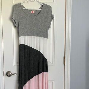Colorblock maxi dress